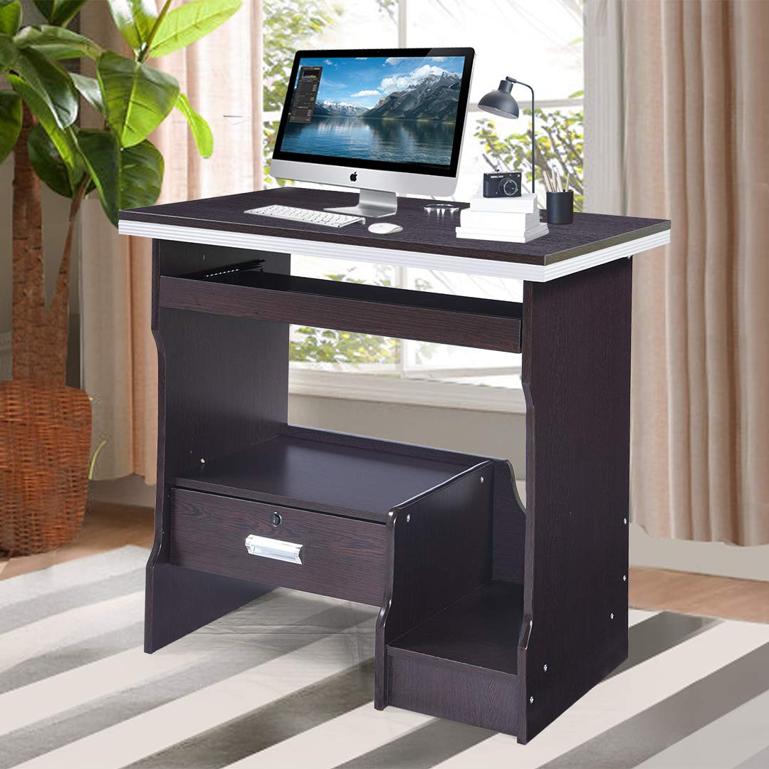 Royaloak Acacia Computer Table (Chocolate): Amazon.in: Home & Kitchen