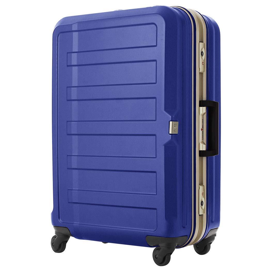 [アウトレット] スーツケース キャリーケース キャリーバッグ LEGEND WALKER レジェンドウォーカー M サイズ 傷が目立ちにくいシボ加工 日乃本 B-5088-60 ネイビー   B07PQF7TT8