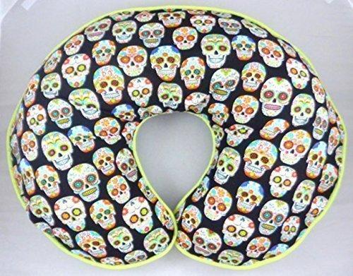 Nursing Pillow Cover Slipcover Sugar Skulls by Mommy's Little RockStar
