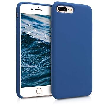 kwmobile Funda para Apple iPhone 7 Plus / 8 Plus - Carcasa de [TPU] para teléfono móvil - Cover [Trasero] en [Azul Marino]