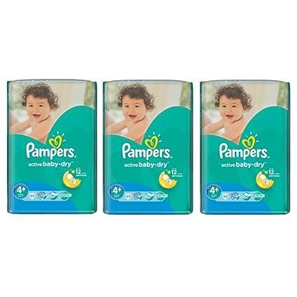 PAMPERS Active Baby Dry Pañales Máxima de talla 4 + 9 – 16 meses Box (