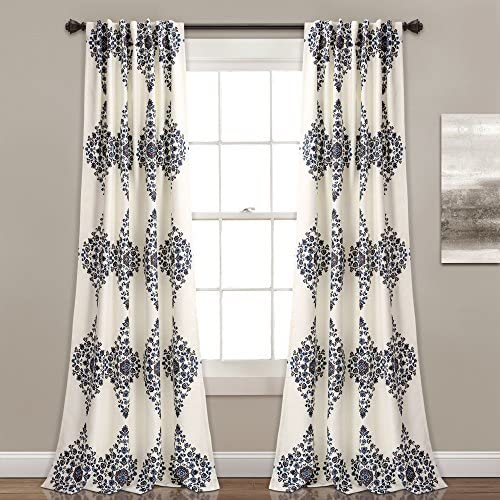 Lush Decor Lush D cor Keya Medallion Room Darkening Window Curtain Panel Pair