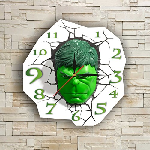 [The Incredible Hulk 11.8'' Original Handmade Wall Clock - Get unique décor for home or office – Best gift ideas for kids, friends, parents and your soul] (Incredible Hulk Costume Ideas)