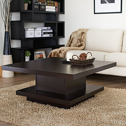 Best Seller Durable Pagoda Coffee Table, Features Durable Condensed Wood Veneers, Center Console, Shelves, Excellent Display of Photos and Books in Your Living Room (Pagoda Shelf)