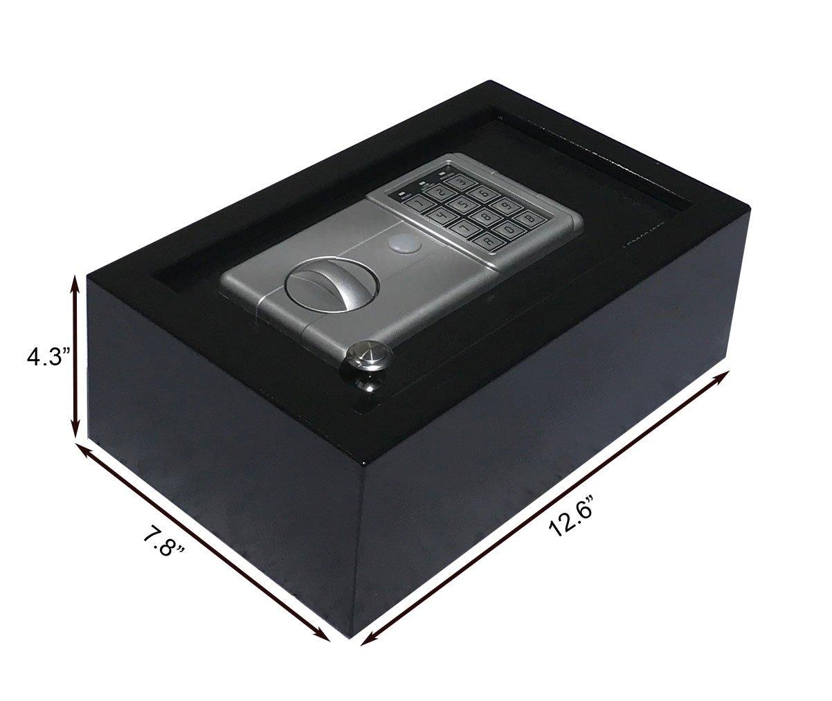 Digital Electronic Drawer Safe Hidden Security Box Jewelry Gun Cash Portable