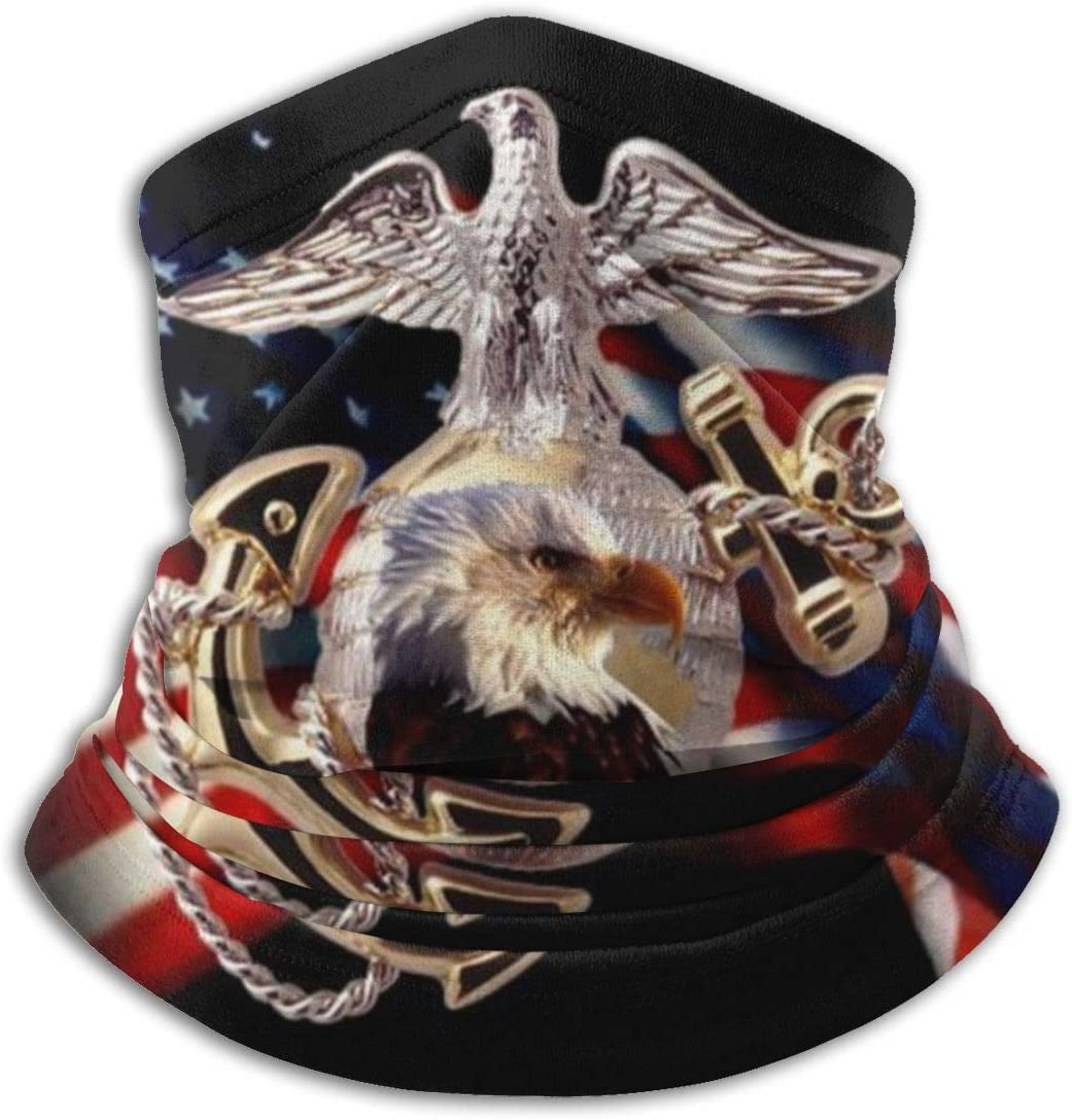 US Marine Corps Rectangle Neck Gaiter Shield Scarf Bandana Face Cover Seamless UV Protection for Motorcycle Cycling Riding Running Headbands