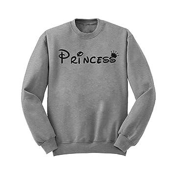 unke moda Sudaderas con capucha Princesa blusa carta imprimir sudadera Jerseys