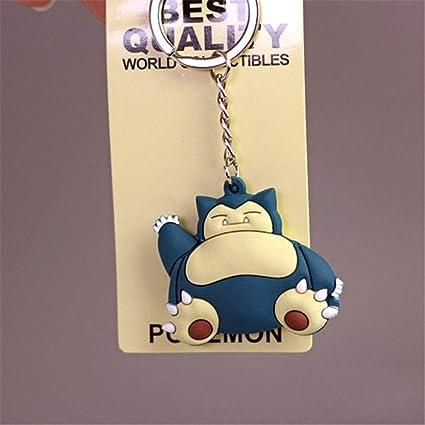 Anime PVC Keychain Pocket Monsters Pikachu Charmander Squirtle Bulbasaur 3D Mini Figure Key Ring Dropship Eevee Gift (11)