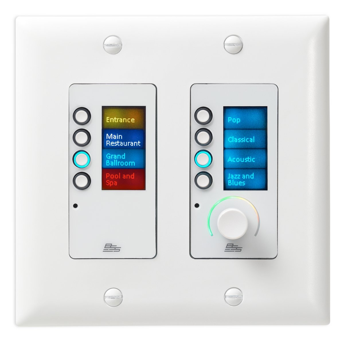 BSS EC-8BV-WHT-US | Ethernet Controller with 8 Buttons Volume Control US Decora White by BSS