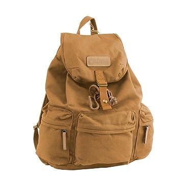 0fea0a73db Caden F5 Vintage Canvas Camera Bag DSLR SLR Backpack Travel Rucksack for  Canon Nikon (Khaki