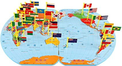 Lakshya World Map Jigsaw Puzzle 36 Country Flags with Countries Capital Currency Language Area and Population Best Puzzle to gain Knowledge of World (Big) World map