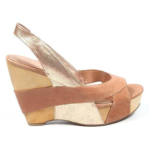 461131ba1f5 NINE WEST - Sandalias De Cuña De Mujer NWLIAGH LTPNK LPNK Tacón  12.5 cm   Amazon.es  Zapatos y complementos