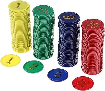 non-brand Juego de Mesa Juego de Tablero de Fichas de Póquer de Casino Juego de Fichas de Dinero Juego de Fichas Mahjong: Amazon.es: Juguetes y juegos