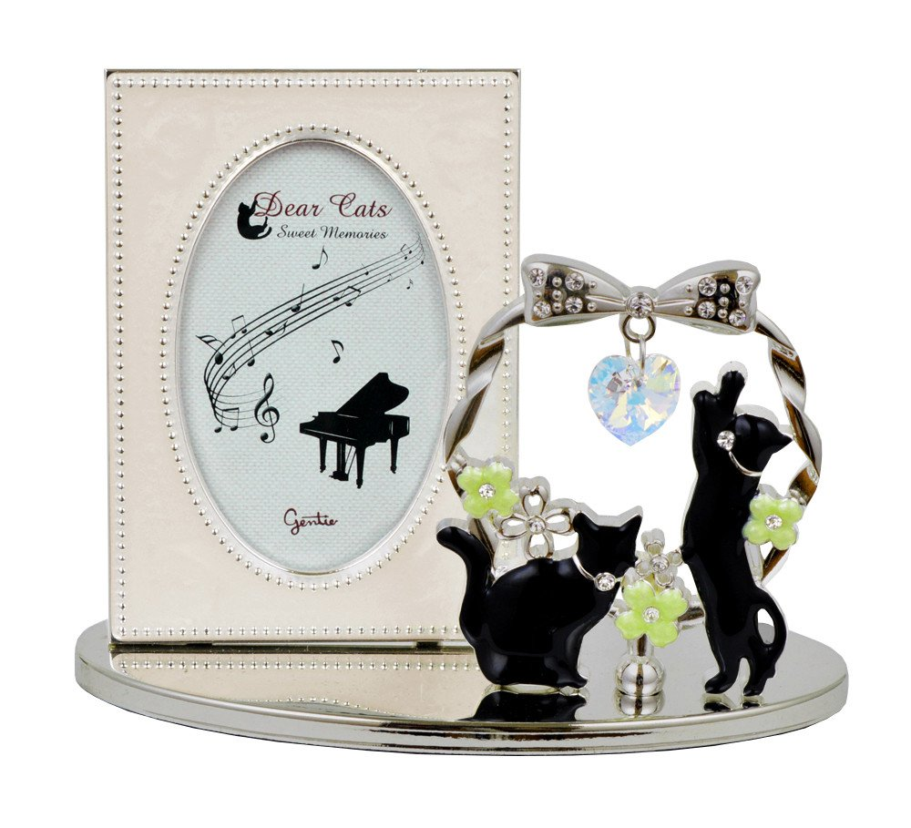 Gentie Ornament frame Black Cat G-4317S