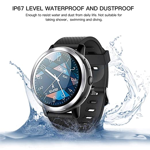 HUIGE Reloj Inteligente 4G Android 7.1.1 GPS SmartWatch Hombres 2 ...