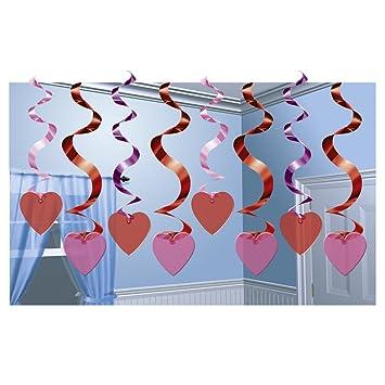 Deko Spiralen Rot Liebe Hangegirlande 15 Tlg Valentinstag