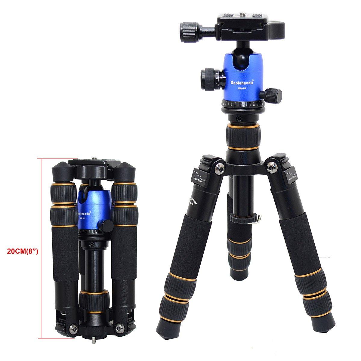 koolehaoda KQ-166 Travel Portable Mini Tripod With Ball Head For DSLR Camera(166-B1 Blue)