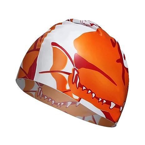 91f824fe0c0 Amazon.com   Gotaout Swimming Cap Dinosaur Silicone Swim Caps ...