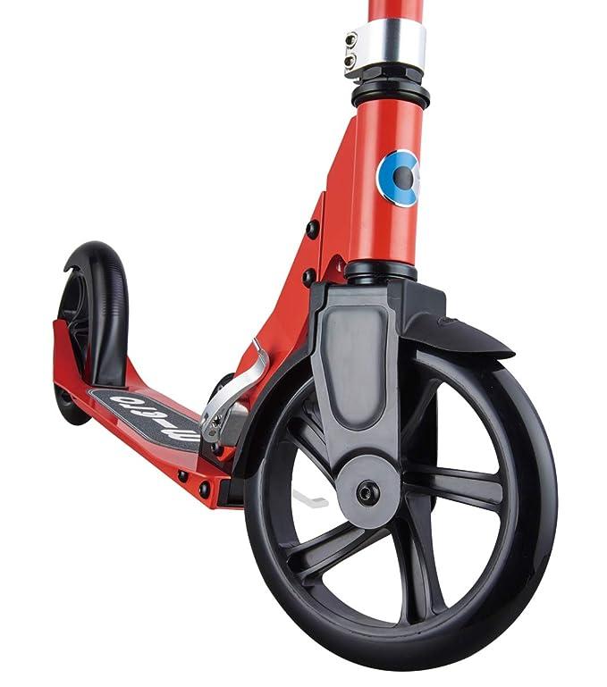 Micro Cruiser - Scooter Urbano, +6 años, Carga máx: 100kg, Ruedas 200m Poliuretano, Peso 4,5kg (Rojo)