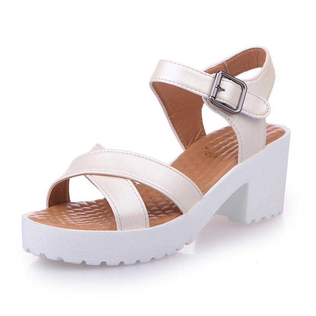 OverDose Femmes B06Y5VKQJJ Sandale Femmes High Heels, Été Rugueux des Sandales Beige Ouvert, Doigt Talon Haut Plate-Forme Open Toe Chaussures Beige 7ff6fa7 - tbfe.space