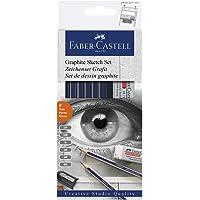 A.W.Faber-Castell I Pvt Ltd Graphite Sketch Pencil With Sharpner & Eraser Set