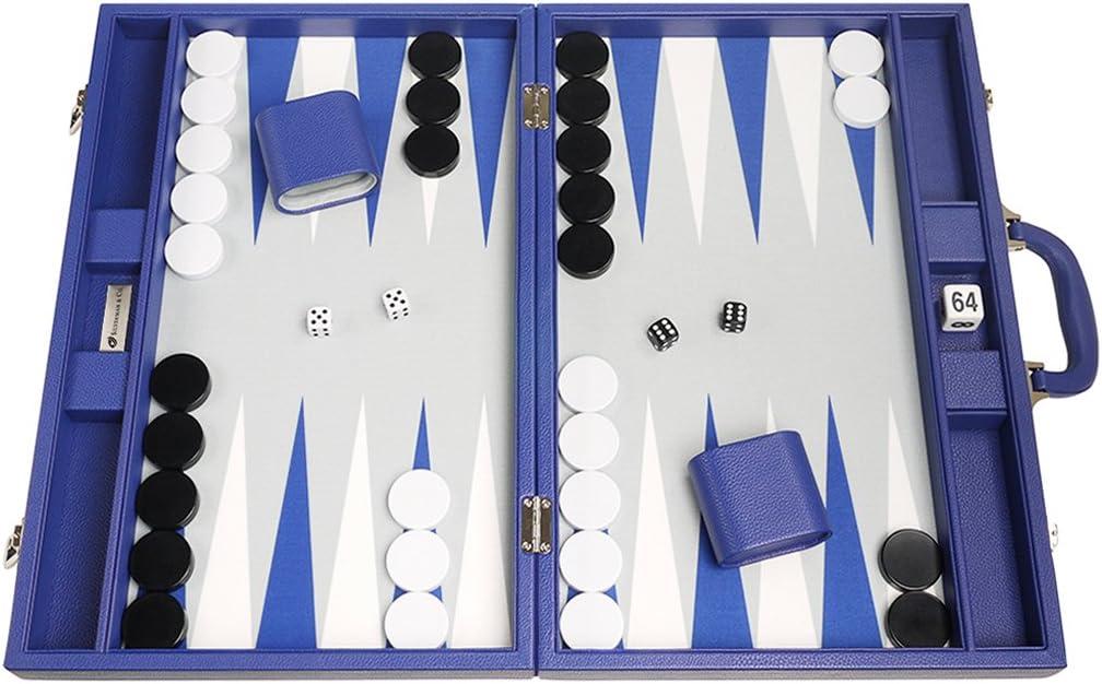 Silverman & Co. Juego de Backgammon Premium de 48 x 64 cm - Indigo Blue: Amazon.es: Deportes y aire libre