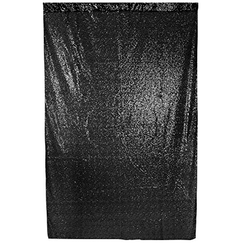 Neewer 4 x 6 Feet Black Sequin Backdrop Photography Background for Wedding, Party, Prom, Christmas Holiday Decoration, Photo Video Studio Shooting (Black)