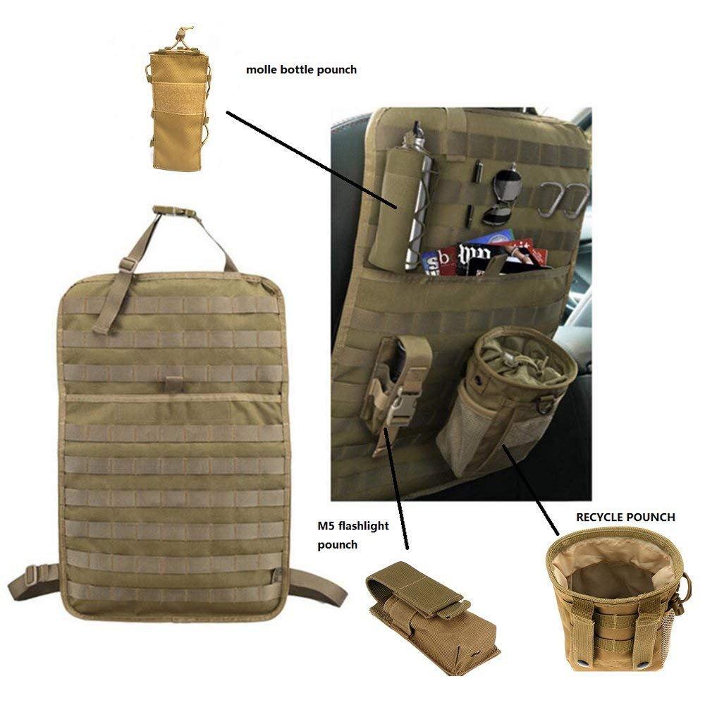 Amazon.com: Tactical Expedition Car Vehicle Seat Back MOLLE ...