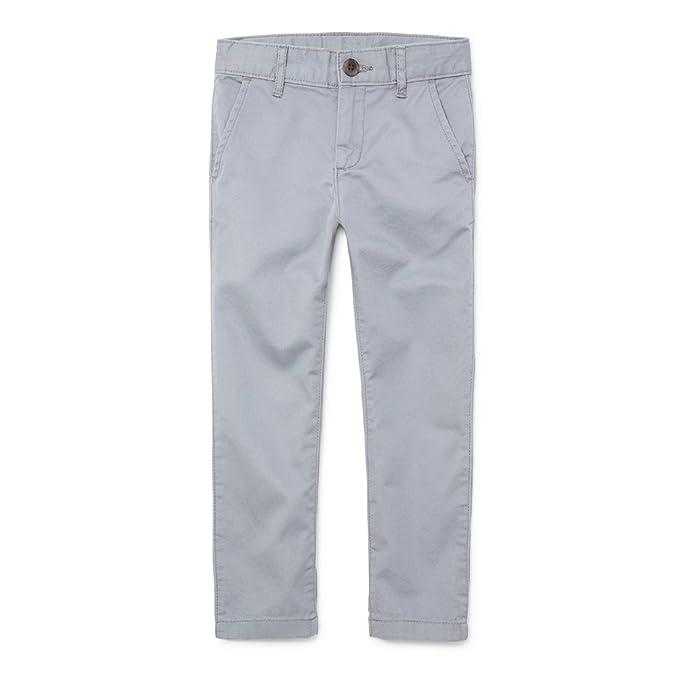 The Children's Place Big Boys' Skinny Uniform Chino Pants, FIN Gray, 10