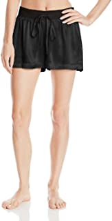 product image for PJ Harlow Women's Mikel Satin Boxer Short with Draw String - PJSB5 (Large, Black)