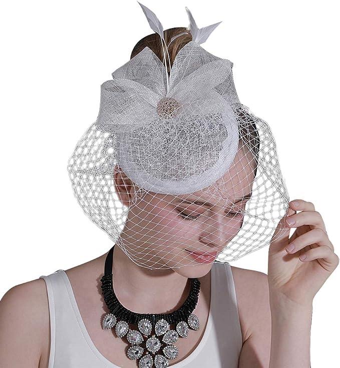 Elegante Sombrero Flor Velo Boda Sombrero Classic Hat Boda ...