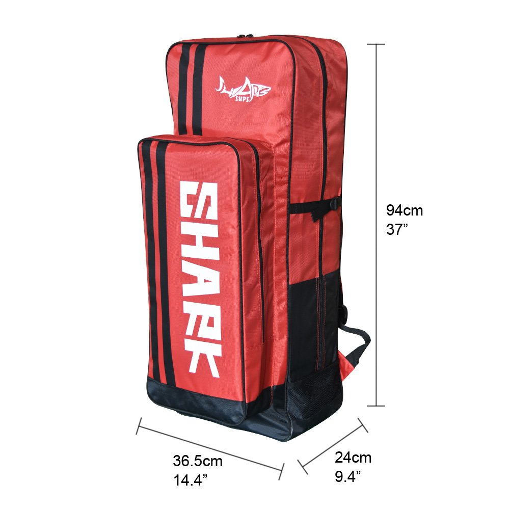 Shark SUPs Backpack Bag for Stand up Paddle Board Inflatable (red)