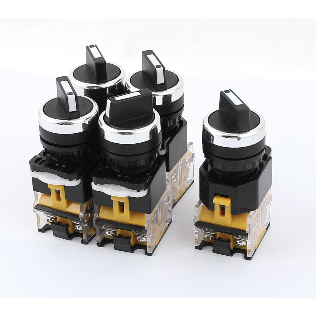 Uxcell a15072100ux0032 AC 380V 10 Amp, 2 Positions DPST Rotary Selector Select Switch Latching Lock 5 Piece