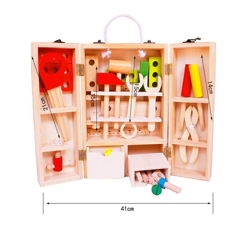 Angle Holzbau tragbare Multifunktionswerk-Toolbox-Reparatur von Toolbox-Geräten Kombination Puzzle zu zu zu Hause Demontage Früherziehung Puzzle-Spielzeughaus B07PCNH2T5   Bestellung willkommen  6a0a0b