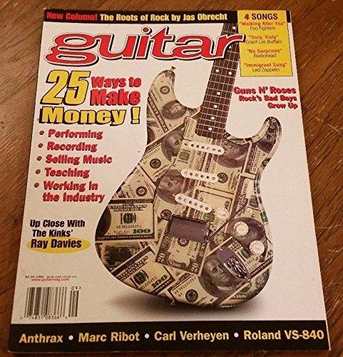 September 1998 GUITAR Magazine Vol 15 No 11 25 WAYS TO MAKE MONEY PLAYING!