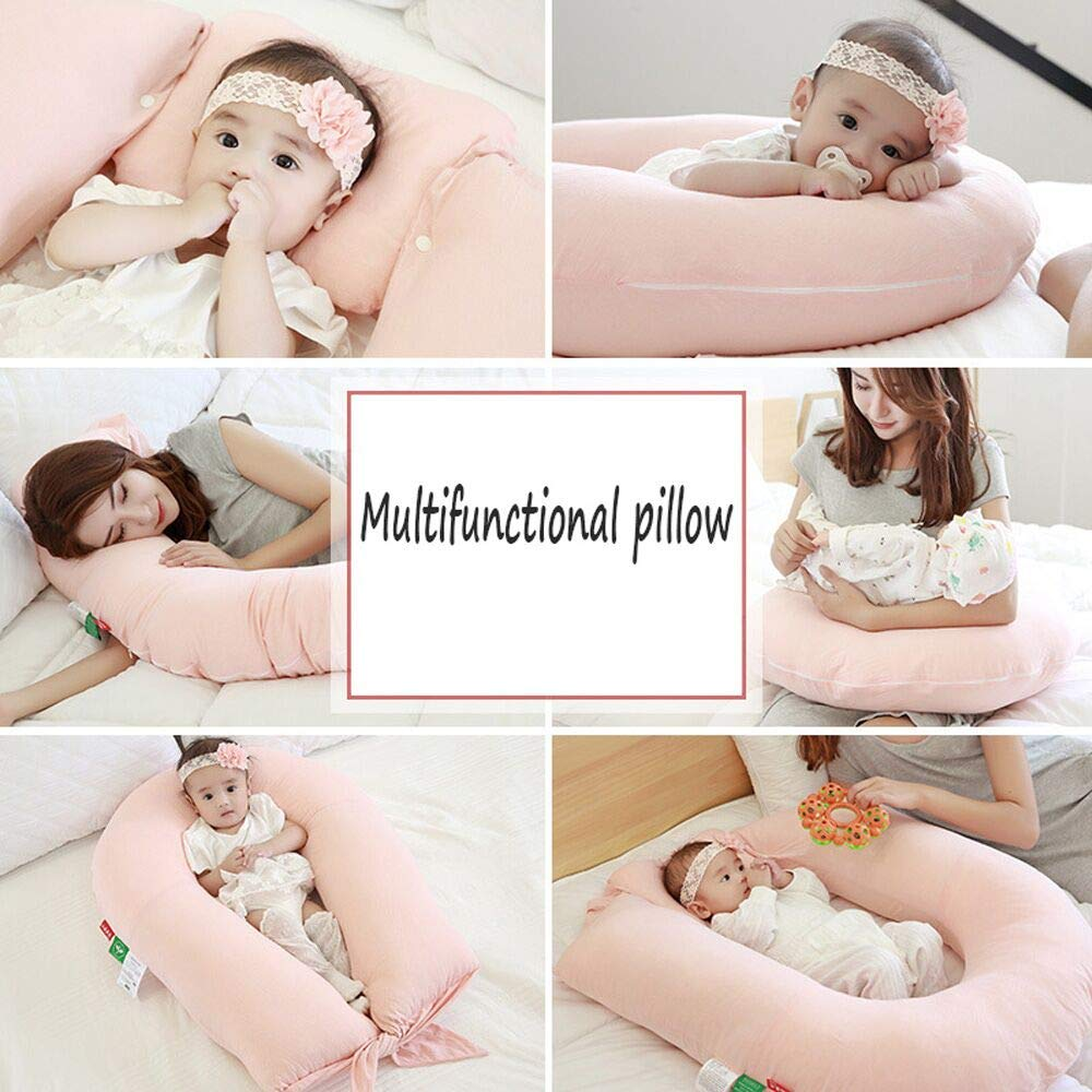 gmhvf Baby Pillow U-Shape Nursing Pillow Breastfeeding Cushion Toddler Sleep Positioner Anti Roll Cushion Baby Sleep Positioning Pad by gmhvf