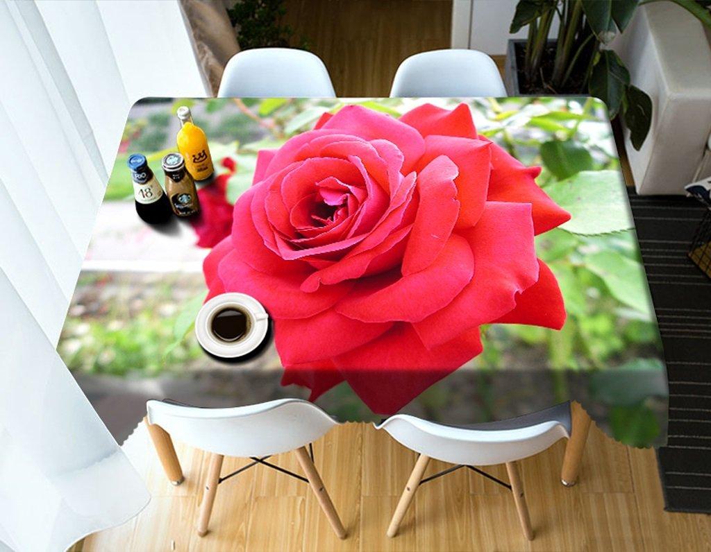 Qiao jin Manteles Mantel Rectangular - Mantel Personalizado 3D PG01010 - ecológico y sin Sabor - Impermeable de impresión Digital (Tamaño : Square -216cm216cm)