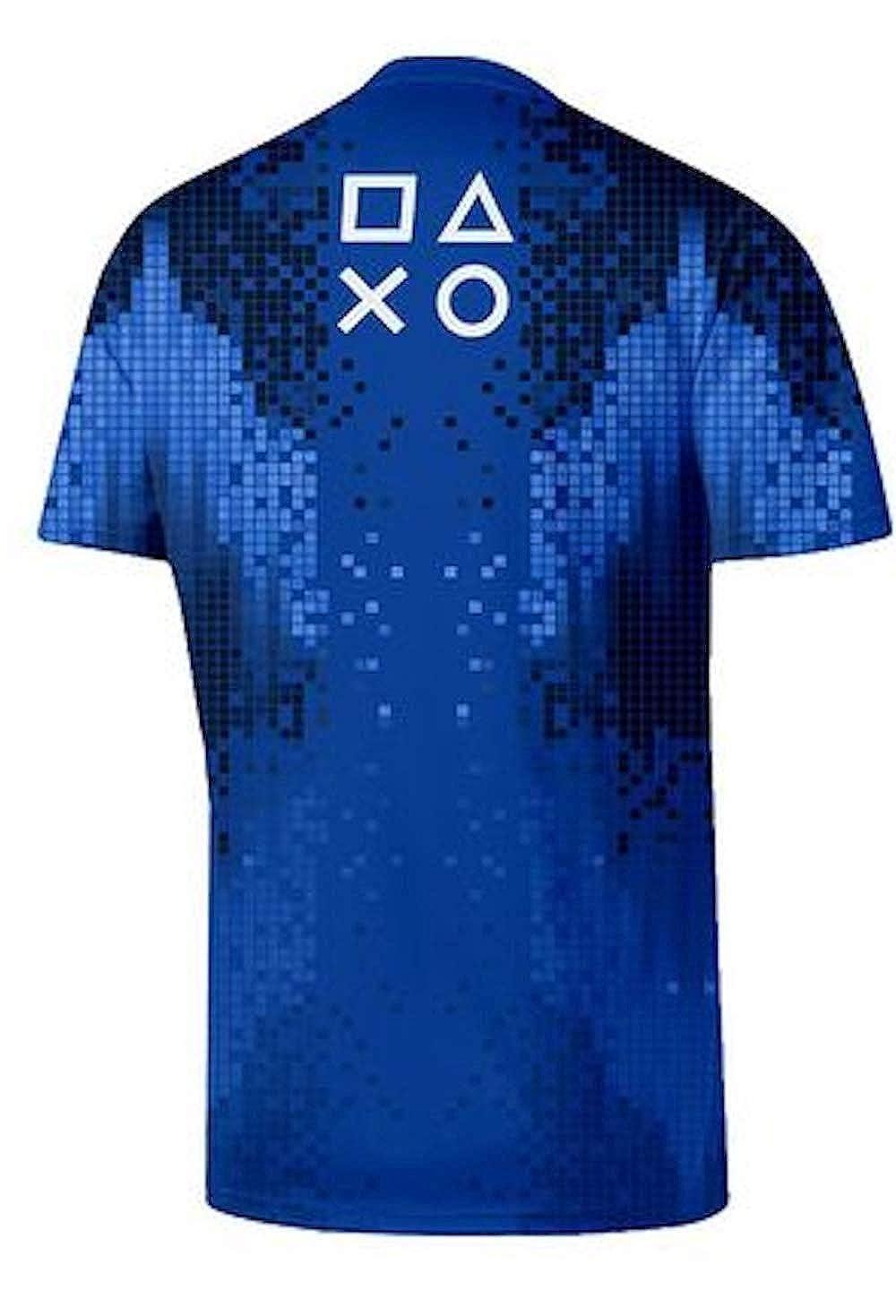 Ufficiale da Uomo Calcio T-Shirt Sony Playstation 8-Bit Esports