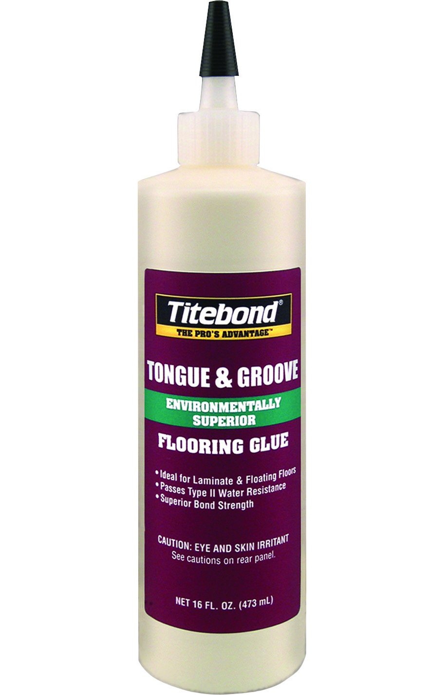 Titebond 2104 Tongue And Groove Glue Bottle 16 Oz Titebond Tongue And Groove Floating Adhesive Amazon Com