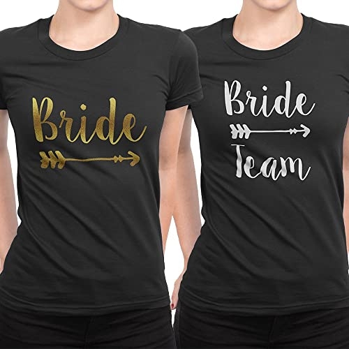 b9a5fdf25 Image Unavailable. Image not available for. Colour: Personalised Bride  Tribe Hen Party T Shirts Bride Wedding Hen Do Night Team Crew Squad Tee
