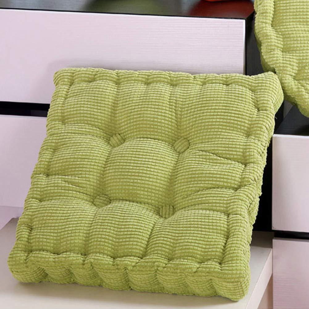 Easy Rise cuscino alto poltrona capezzale booster Tatami, quadrato Addensato Pad Easy Rise velluto a coste tessuto cuscino per sedia con imbottitura morbida, caffè caffè HOMYY