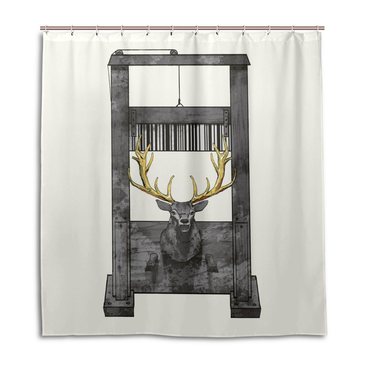 Amazon SCDS Danger Of Elk Shower Curtain Waterproof Mouldproof Thickening Extra Long 60x72in Home Kitchen