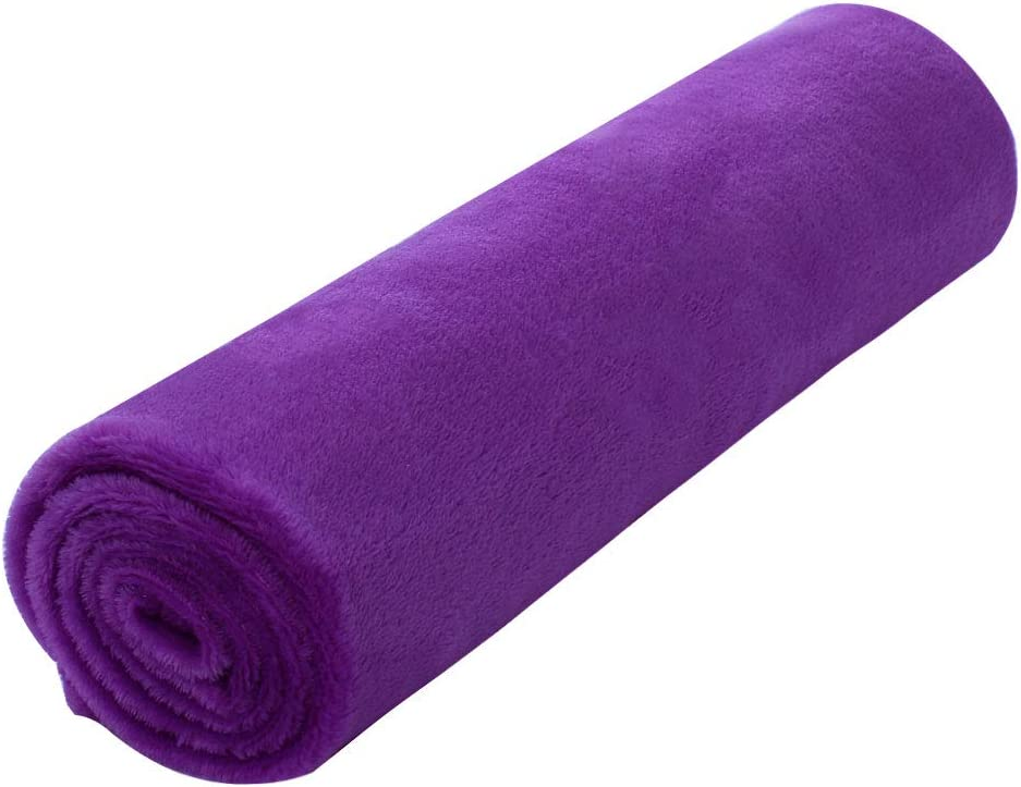 """uxcell Pet Dog Blanket, Flannel Fleece Puppy Blanket Solid Plush Warm Rug Blankets and Throws for Small-Medium Dogs Cats Doggy Sleeping Mat, Purple, 27"""" x 39"""" (70 x 100 cm)"""