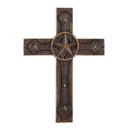 Amazon.com: MyEasyShopping Rustic Cowboy Wall Cross, 13.25 Inch ...
