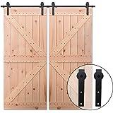DIYHD 6ft Puerta de granero corredera estilo rústico americano ...