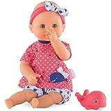"Corolle Mon Premier Bebe Bath Oceane 12"" Baby Doll, Safe for Bathtub Or Pool, Floats in Water"