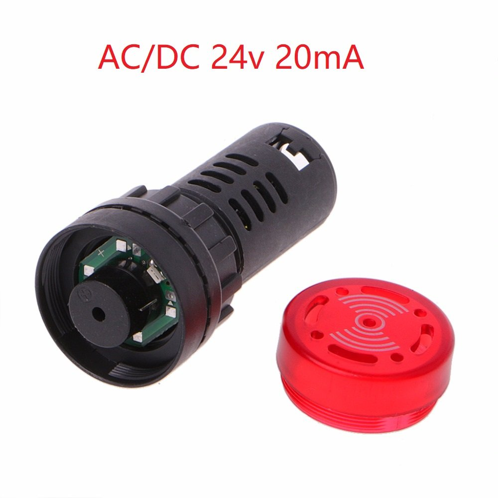 Controls & Indicators GFORTUN 2PCS Red LED Alarm AC/DC 24V 20mA ...