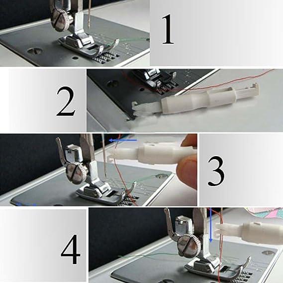 Enhebrador automático herramienta para aplicadora de hilos para máquina de coser Serger: Amazon.es: Bricolaje y herramientas