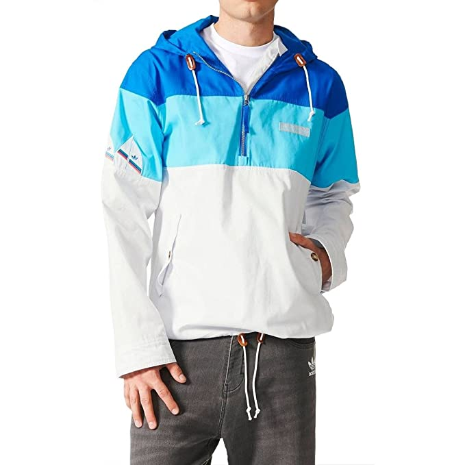 71b56746a7e adidas Originals - Chaqueta - para Hombre Blanco Azul Small  Amazon.es