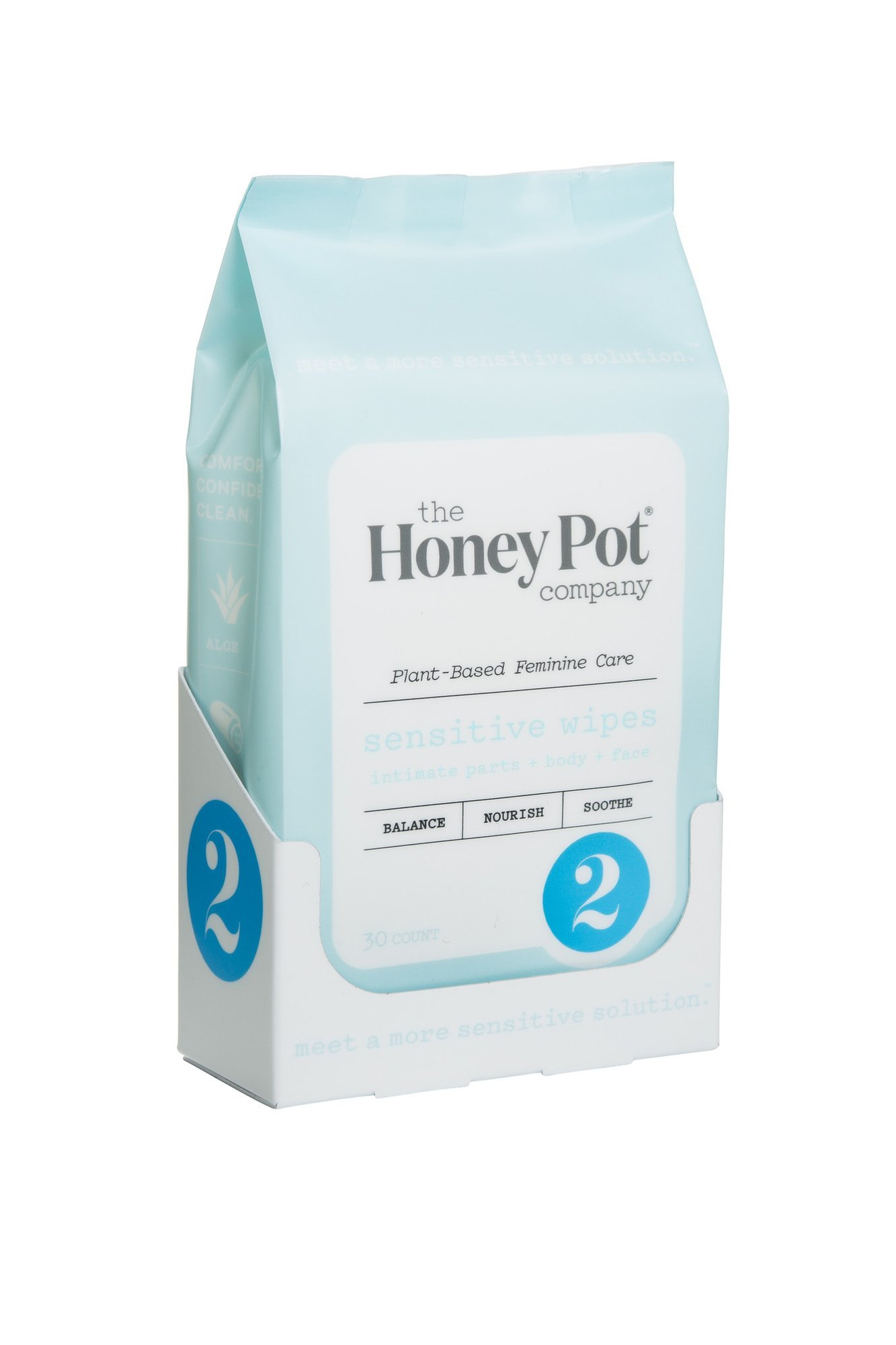 The Honey Pot Normal Feminine Hygiene Wipes – Natural, Herbal Feminine Hygiene Wipes, (30 Count) For Normal Skin Types